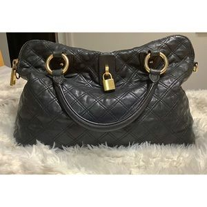 MARC JACOBS Quilted Leather Satchel  Made in Italy